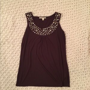 Brown Top with silver embellishment